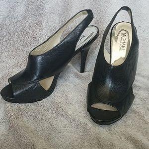 Michael Kors slingback cutout heels